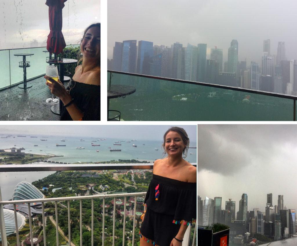 CBD Singapore Marina Bay Sands Rainy View - Laura Griffith of Euphoric Threads